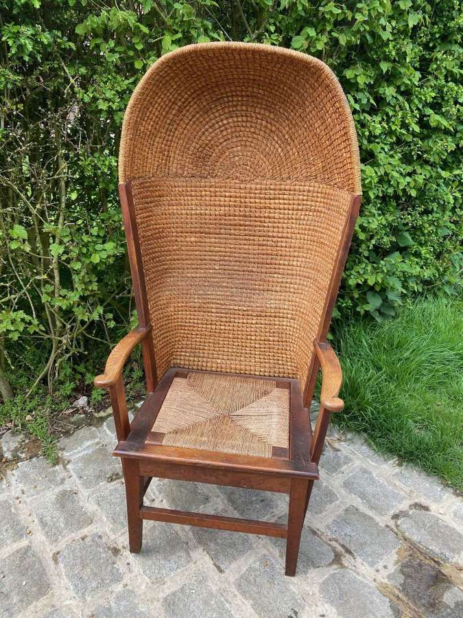 HOODED ORKNEY CHAIR STAMPED LIBERTY OF LONDON & CO.