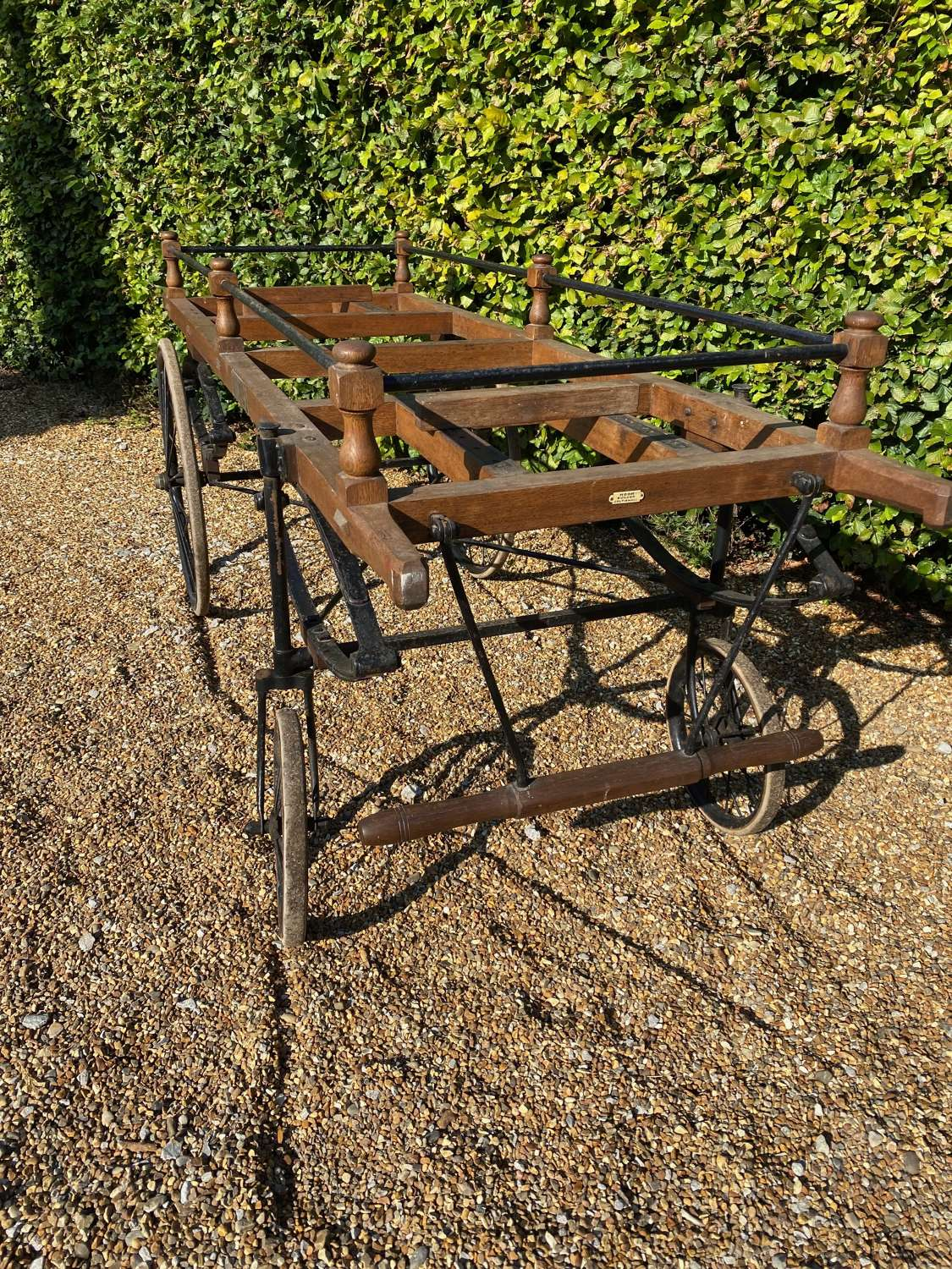 Early 1900's Coach Built Hand pulled Coffin Bier